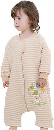 Happy Cherry Bebé Saco de Dormir con Piernas Separables Sleepwear Mangas Algodón para Bebé 0-4 Años Primavera Otoño Invierno: Amazon.es: Ropa y accesorios