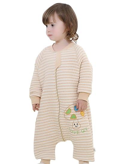 528095f12baa5 Happy Cherry Pyjama Bébé Enfant Fille Garçon Grenouillère en Coton Manche  Longue Sac de Couchage Couverture