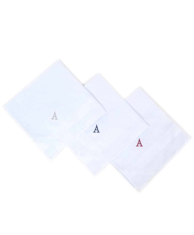 Umo Lorenzo 3 Pack Initial White Cotton Handekrchiefs