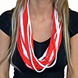 You Can Hide It Hidden Secret Pocket Sippin' Scarf - Red & White