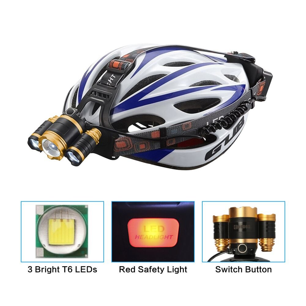 Headlamp Flashlight Xtreme Bright,with Rechargeable Lithium Battery,COSOOS Zoomable 4-Mode LED Hardhat Light,Hard Hat Headlamp,Survival Kit for Emergency,Hurricane,Power Outage,Support AAA Battery by COSOOS (Image #4)