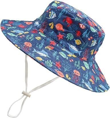 Amazon.com: Baby Sun Hat Boys Girls Toddler Kids Hats Summer Swimsuit Beach  UPF 50+ Sun Protection Outdoor Adjustable Bucket Hat Caps: Clothing