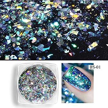 Chameleon Aurora Laser Nail Art Mirror Sequins Star Foil Paillette Irregular Glitter Powder Flakes Gel Nails Art & Tools