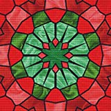 Stained Glass Wreath Cross Stitch Pattern - Holiday Colors - Great Christmas Design