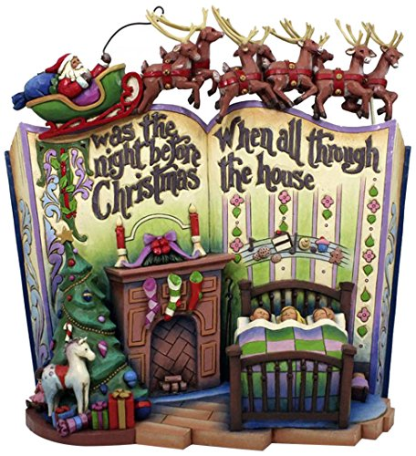 Jim Shore for Enesco Heartwood Creek Night Before Christmas Storybk Figurine, 7.75-Inch ()