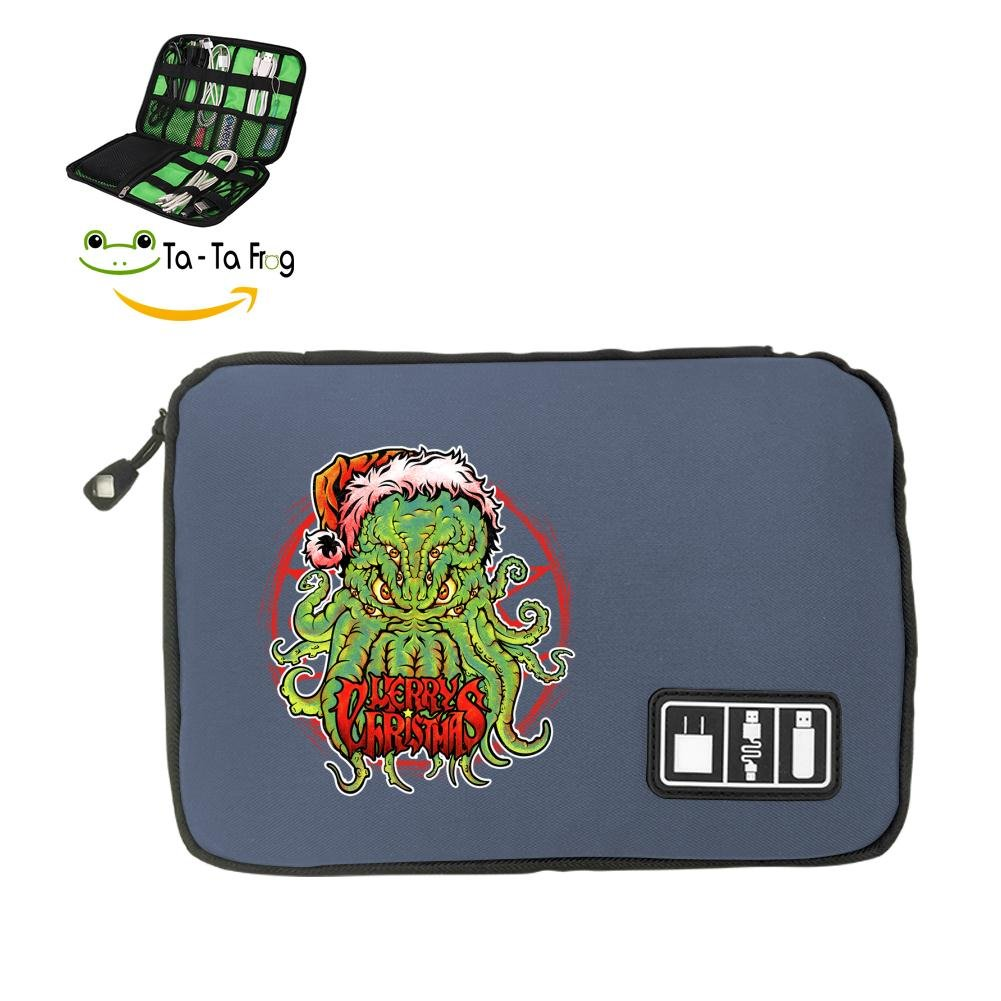 Zihoco Stylish Data line Storage Bag,Cuttlefish Monster Electronics Accessories Travel Bag Gray