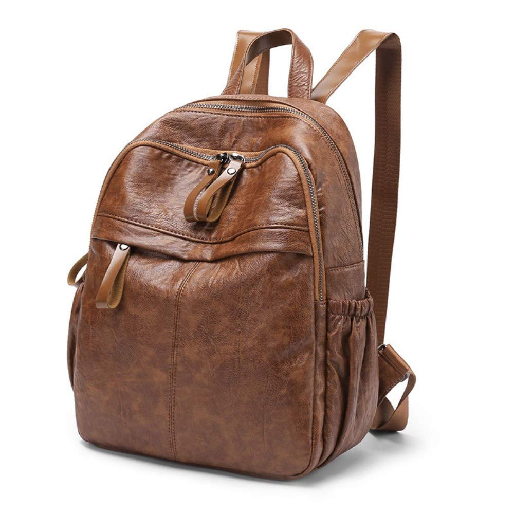 Zlk Backpack Black Backpack Female Wild Casual Soft Leather Ladies Bag Retro Travel Backpack