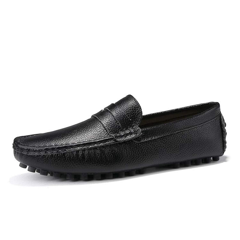 Marque 2019 Nouveaux Hommes Mocassins Respirant en Cuir V/éritable Chaussures pour Homme Conduite Chaussures s Business Boat Top Hommes Chaussures