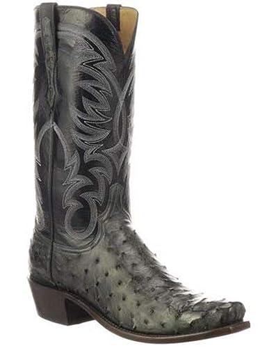714d5e3bb0f Amazon.com | Lucchese Men's Hugo Full-Quill Ostrich Western Boot ...