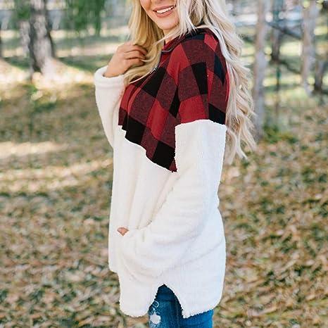 ALISIAM Sudadera de Moda para Mujer Oversize Fluffy Fleece ...