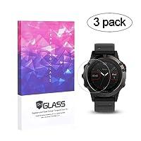 Elecguru Garmin Fenix 5 Screen Protector 9H Full Coverage Screen Tempered Glass Protector for Garmin Fenix 5 Smartwatch[3 Pack]