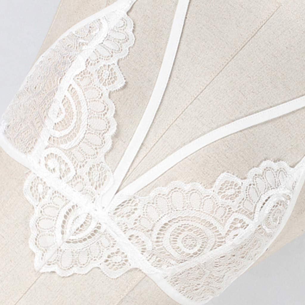 Womens Lace Bralette Strappy Lingerie Set Bridal Eyelash Bra Valentines Day Underwear