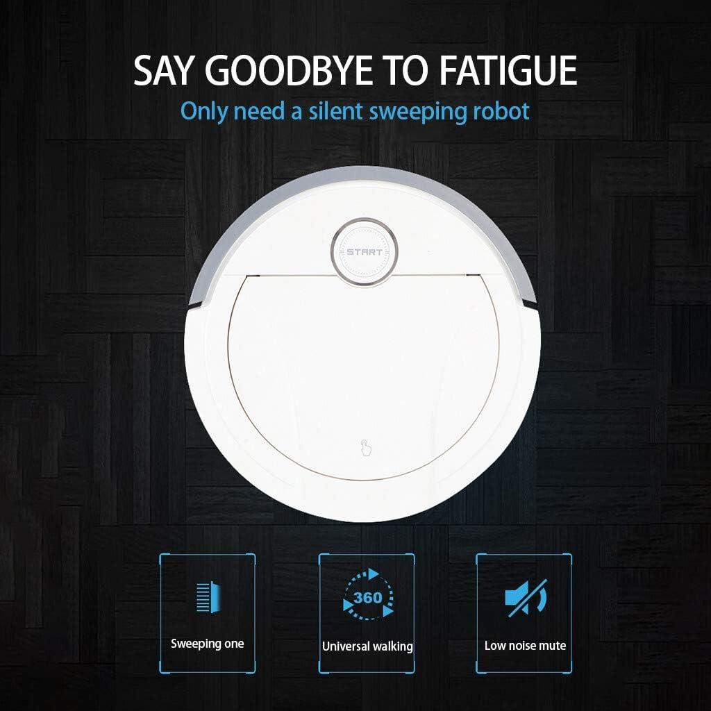 N / A Une Robot Balayer Accueil Intelligent, App Smart Control Télécommande sans Fil Automatique Essuyage Sol Aspirateur (Color : White) Noir