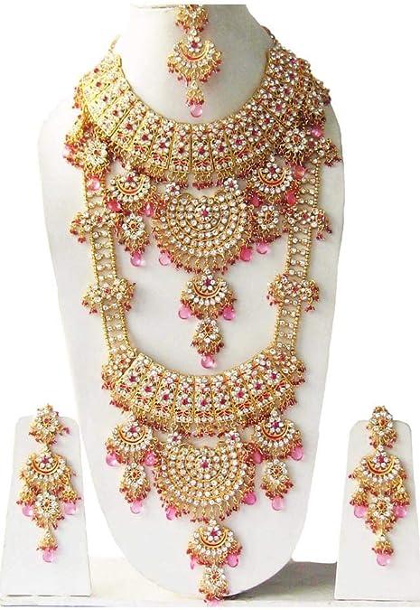 Amazon Com Retailbees Kundan Zircon Indian Bridal Wedding