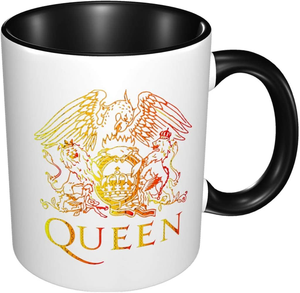 Freddie Mercury Queen Band logo Funny Coffee Mug Coffee Tea Cup Suitable for Home, office, various restaurants