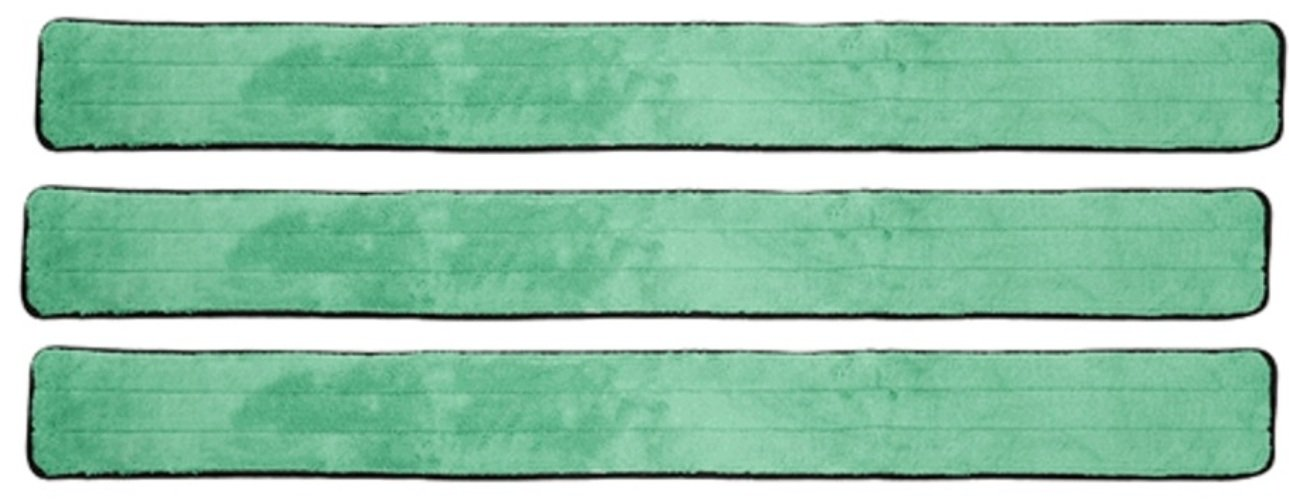 2 Pack, Green with Fringe 48 Inch Green Fringe Microfiber Dust Mop Pads for Professional Commercial Microfiber Mops