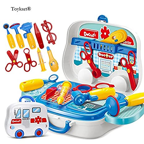 3475ec19bd Buy Toykart Latest Doctor Play Set with Wheels, Pretend Play Set, Doctor  Play Set for Kids, Premium Quality, Toys Great for Role Play Online at Low  Prices ...