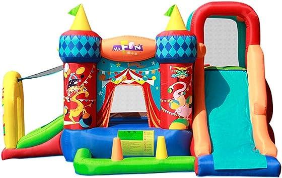 Tobogán inflable Castillo Inflable para Niños Niños Área De Juegos para Niños Al Aire Libre Juguetes Inflables para El Hogar Trampolín De Jardín De Infancia: Amazon.es: Deportes y aire libre