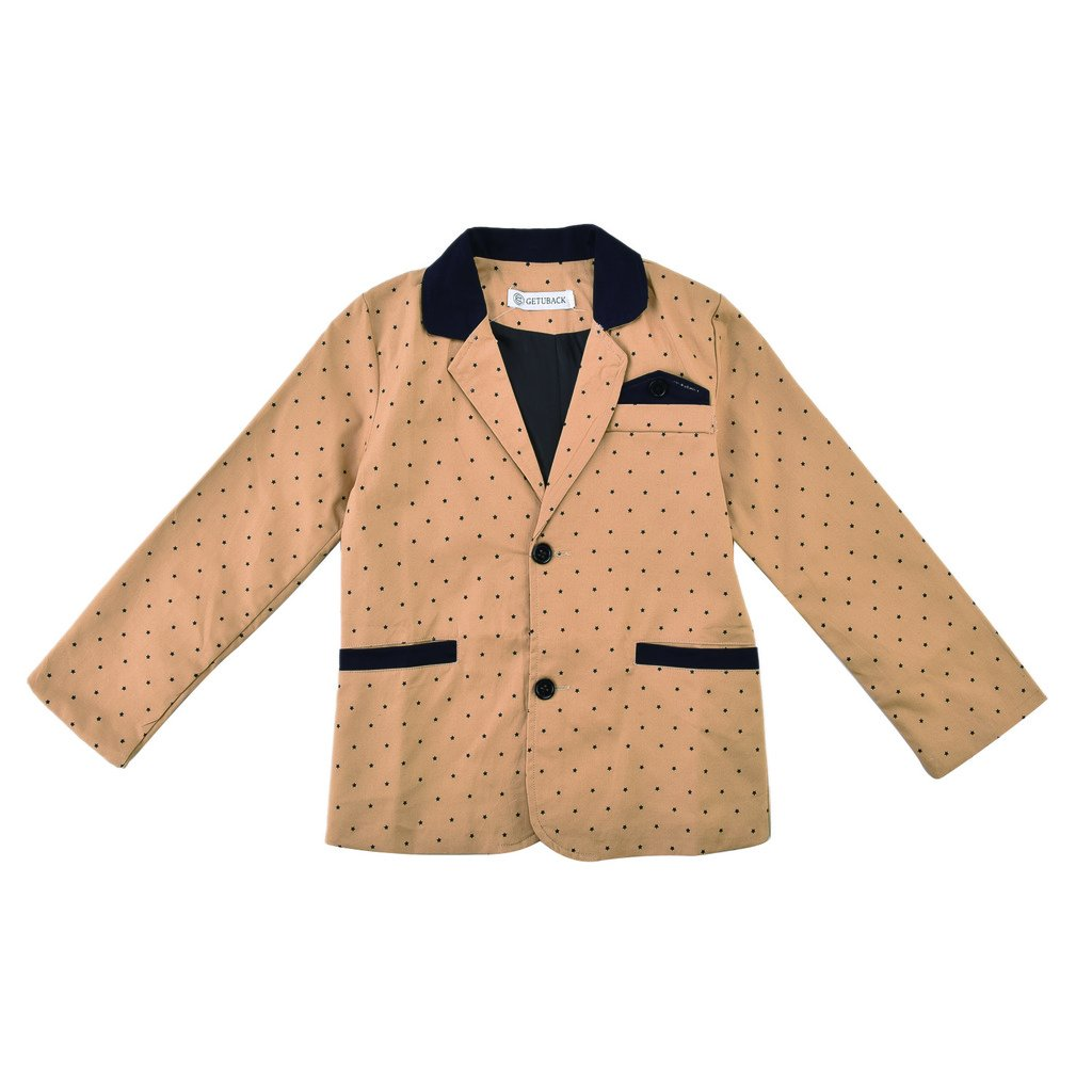 GetUBack Children Boys Polka Dot Blazer Jacket