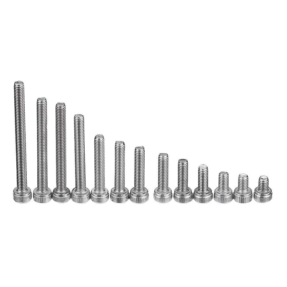 Nut /& Bolt Assortment Sets by CHILUVU 280pcs M3 304 Stainless Steel Hex Socket Cap Head Screw Bolts Assortment Set