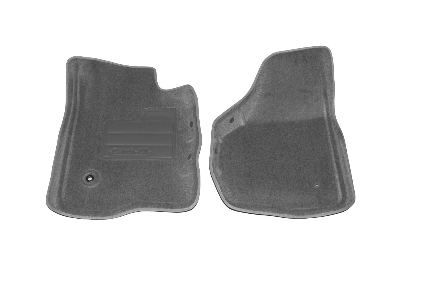 Set of 2 Lund 607043 Catch-All Carpet Gray Front Floor Mat