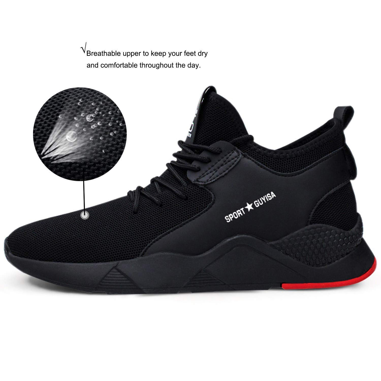 COOU Zapatillas de Seguridad Hombre Trabajo con Puntera de Acero Ligeras S3 Calzado de Trabajo para Comodas Zapatos de Industria y Construcción