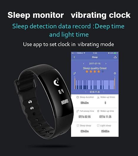 Reloj Inteligente Smartwatch Xinan Pulsera elegante del sueño de la caloría del podómetro del monitor de frecuencia cardíaca A69 Monitor Smart Watch ...