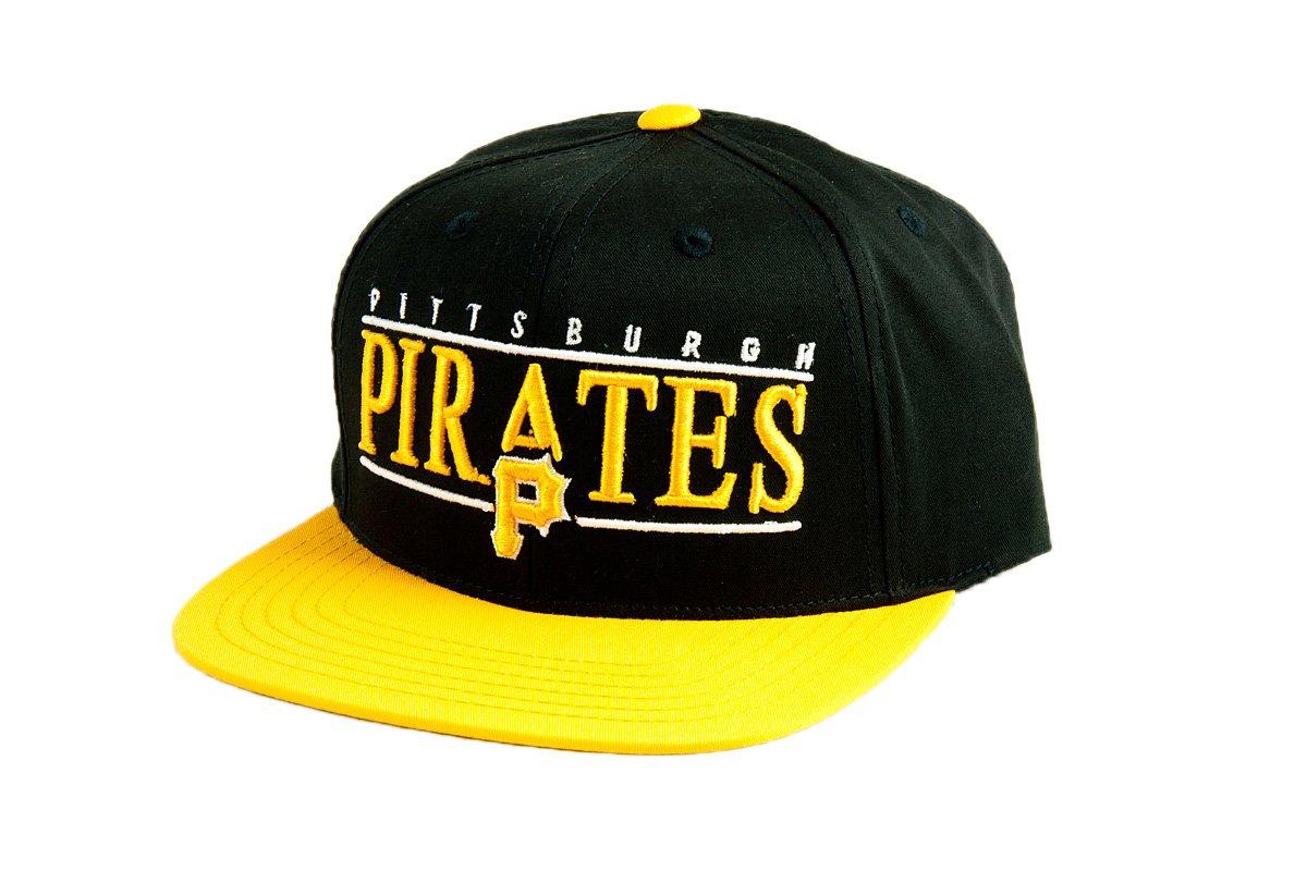 19c5d9c701f Buy MLB Men s Pittsburgh Pirates Nineties Snapback Cap (Black Gold ...