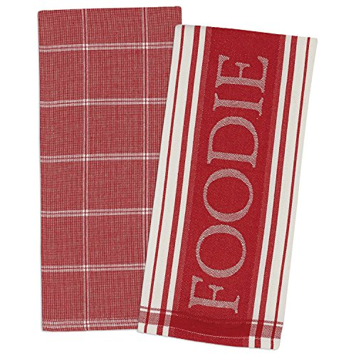 DII Cotton Gourmet Jacquard Dish Towels, 18 x 28