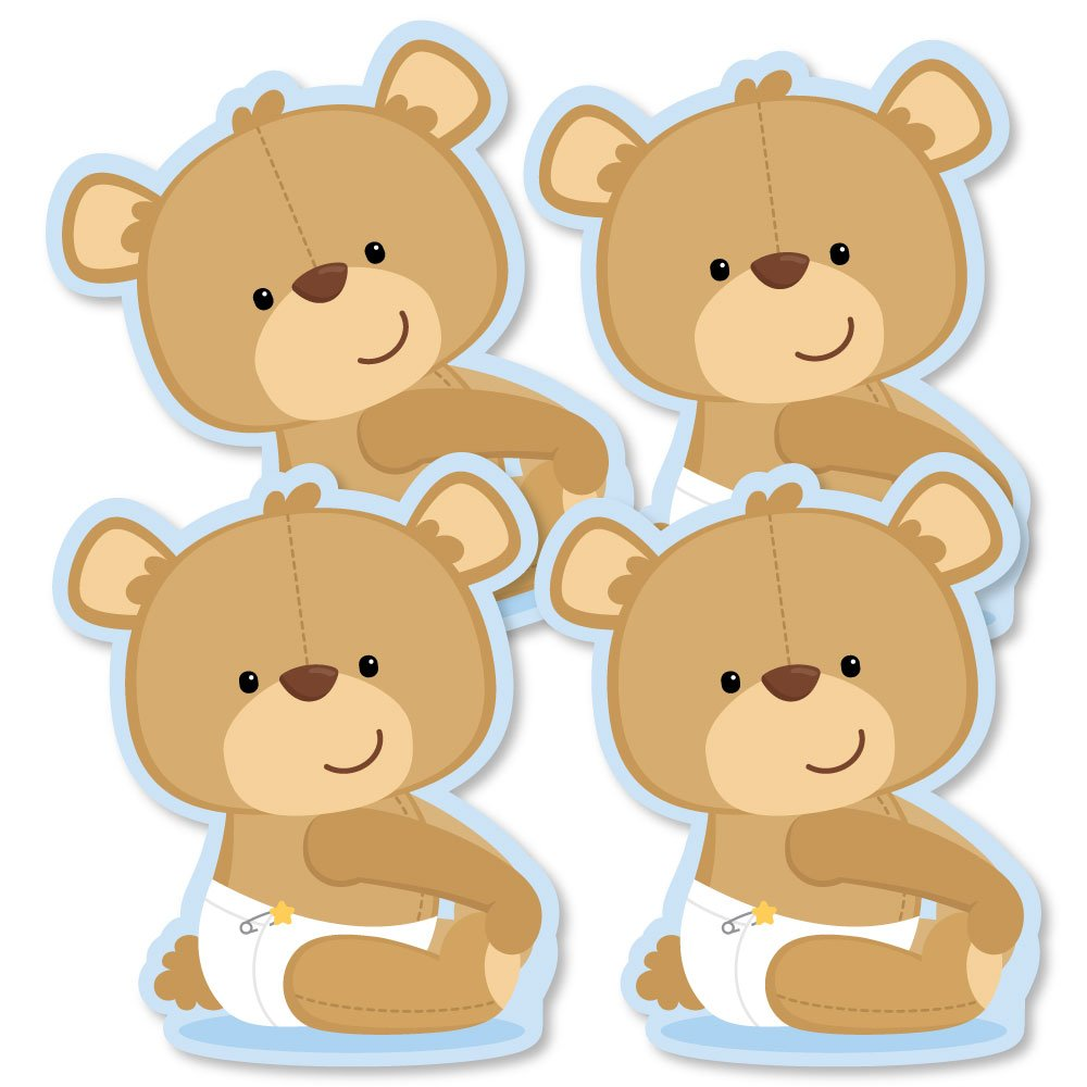 Amazon.com: Baby Boy Teddy Bear - Decorations DIY Baby Shower Party ...