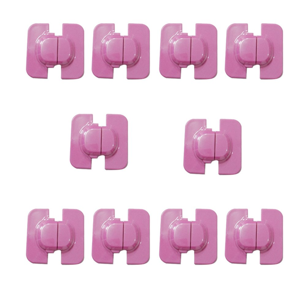 OUNONA 10pcs Safety Baby Locks - Refrigerators Cabinet and Drawers Child-proof Safety Locks(Pink)