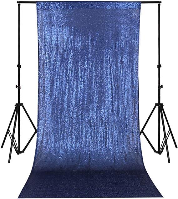 Trlyc Paillettenvorhänge Kulisse Mit Glitzer Marineblau 2 Paneele 60 X 20 Cm Amazon De