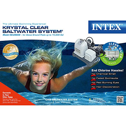 Intex Krystal Clear Saltwater System With E C O Electrocatalytic Oxidation For Up To 15000