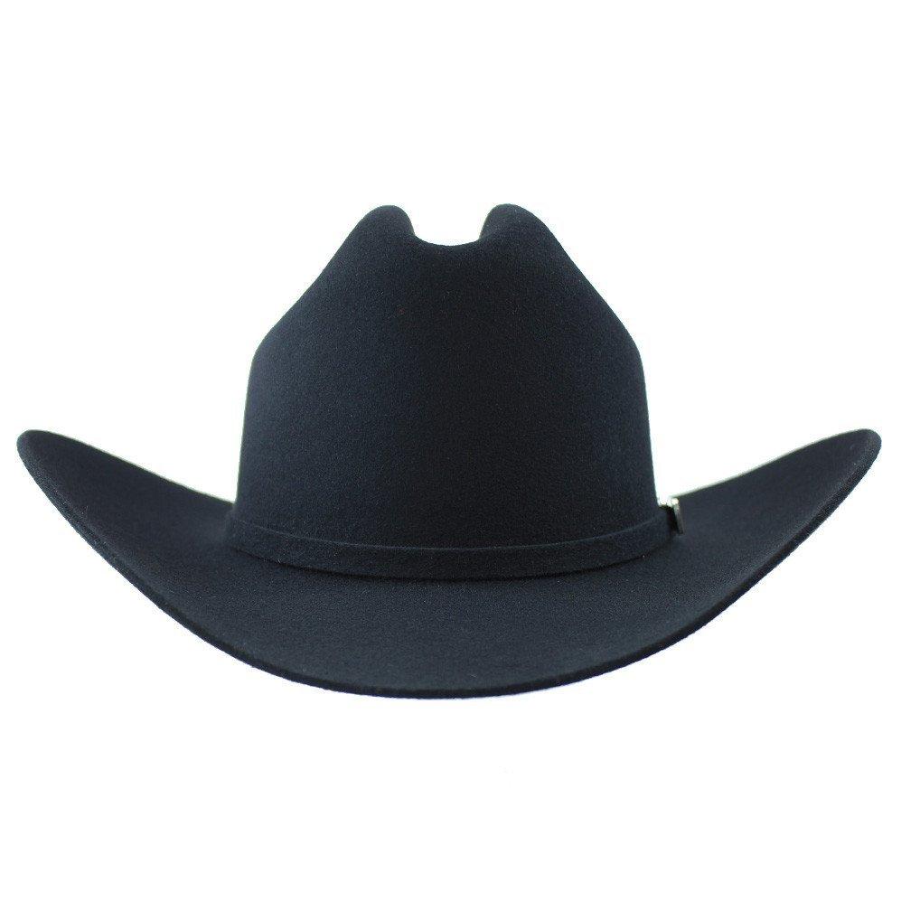 Cuernos Chuecos 6X Sinaloa Felt Hat (7, Black)