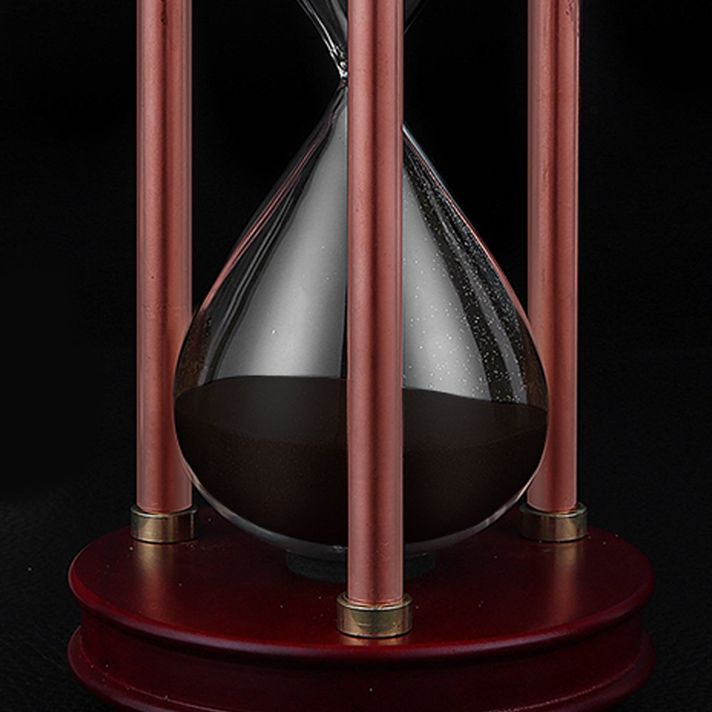 Hourglass Sand Timers - SWISSELITE Wooden Hourglass Sand Timer Inspired Glass/Home,Desk,Office Decor by SWISSELITE (Image #5)