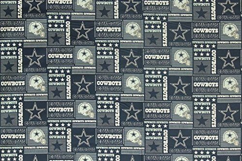 Dallas Cowboys Football Checkered Sheeting Fabric Cotton 5 Oz 58-60