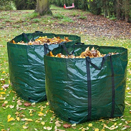 LIVIVO Fineway 2 X Heavy Duty Garden Refuse Bag Waste Refuse Rubbish Grass Sack Showerproof Reusable Large Sack Safe Moving with Minimum Mess from LIVIVO