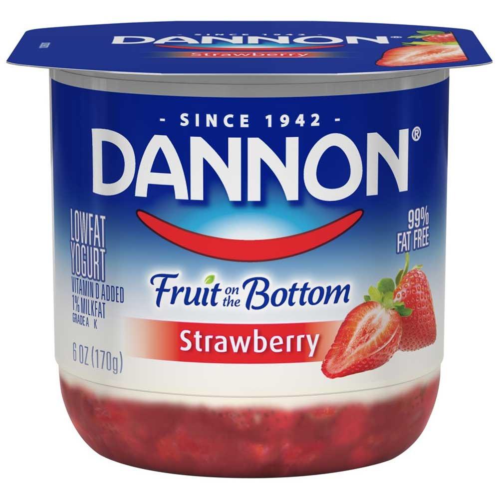 Dannon Fruit on the Bottom Strawberry Yogurt, 6 Ounce - 12 per case. by Dannon