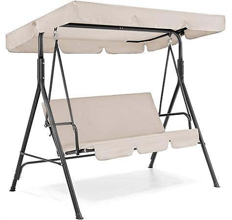 OhhGo - Juego de fundas de columpio para patio con toldo impermeable + funda para asiento de columpio para jardín o patio, beige: Amazon.es: Jardín