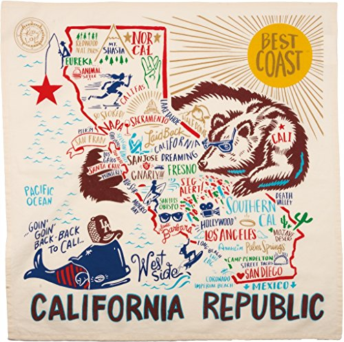 California State Dish Towel Primitives by - 39 Francisco Pier San Shops