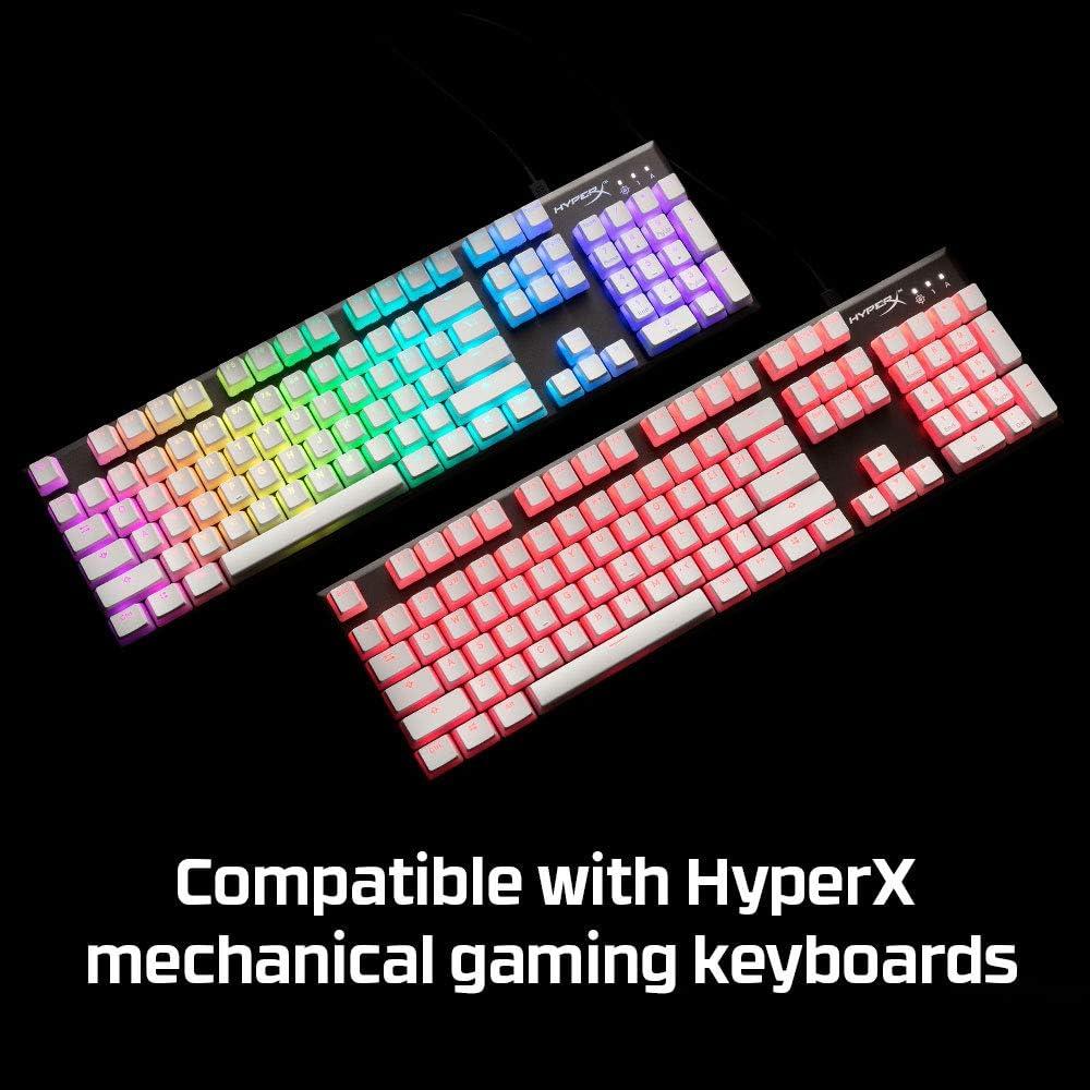 HyperX HXS-KBKC4 Translucent Double Shot PBT Gaming Keycaps, Compatibles con Teclados Mecánicos de HyperX para Juegos, Incluye el extractor de teclas ...