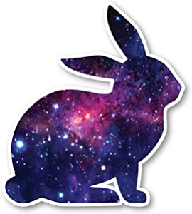 "Bunny Sticker Galaxy Stickers - Laptop Stickers - 2.5"" Vinyl Decal - Laptop, Phone, Tablet Vinyl Decal Sticker S1239"