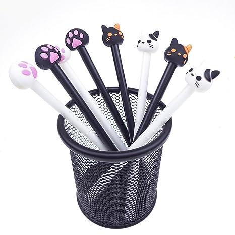 Wa 4X Bolígrafo Bonitos Estilo de Garra de Gato de Dibujos Animados Bolígrafos de