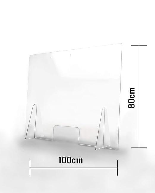 Brandless Barriera Protettiva Parasputi Separatore per Banconi transazione di Windows,50x70cm Reception per Counter Protezione igienica Protettiva Pannello in Acrilico Plexiglass Shield