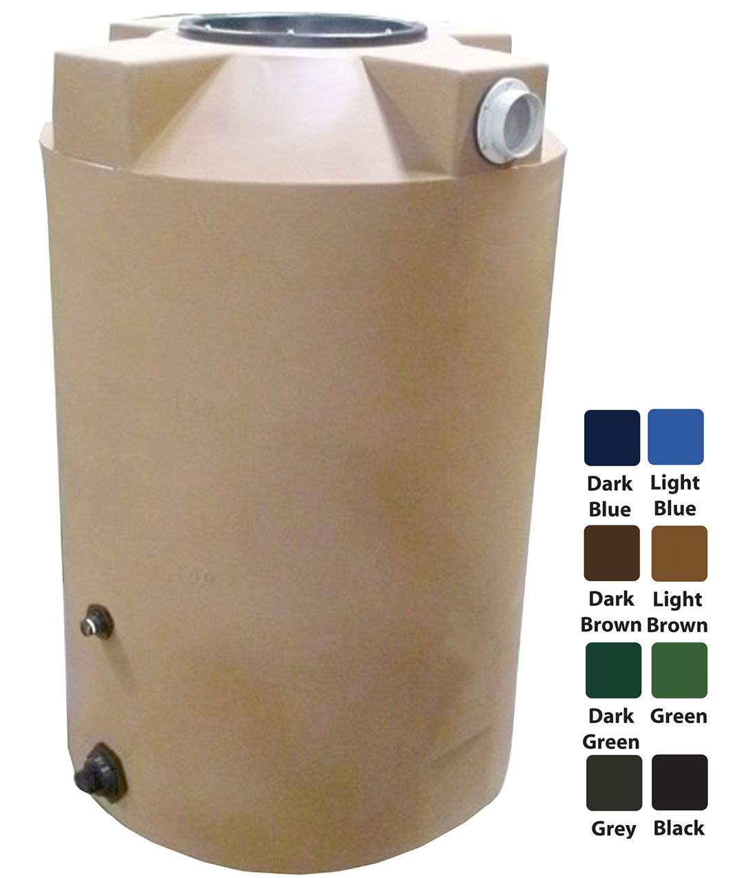 200 Gallon Rain Harvest Collection Tank, Light Brown by Polymart