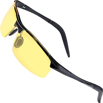 552cb3f544c Sports Polarized Sunglasses for Men - wearPro Driving Sunglasses Al-Mg  Metal Frame WP1005( ...