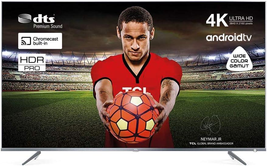 TCL 55DP660 Televisor 55 Pulgadas, Smart TV con Resolución 4K UHD, HDR10, Micro Dimming Pro, Android TV, Alexa, Google Assistant[Clase de eficiencia energética A+]