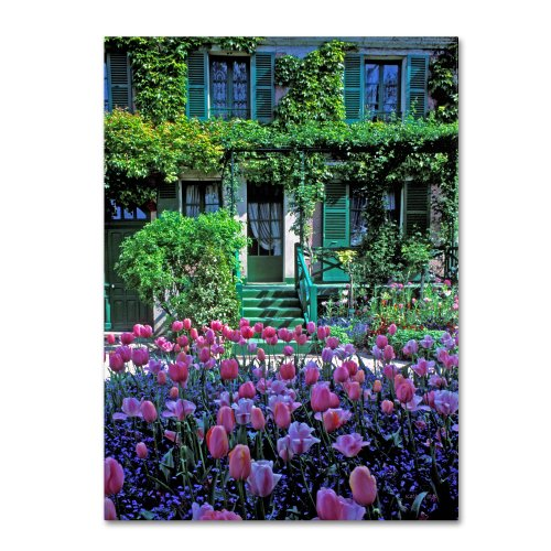 Monet's House with Tulips Artwork by Kathy Yates