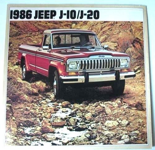 (1986 Jeep J-10 J-20 Pickup Truck Large Original Car Sales Brochure Catalog)