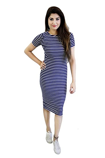 Buy Crazevilla Women Stripped Bodyfit Dress With Short Sleeves At Amazon In In case you perplexed when struggling with numerousdress fit womenthroughout industry, we're going to allow you to solve questions. buy crazevilla women stripped bodyfit